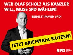 Olaf Scholz - Aufruf zur Briefwahl